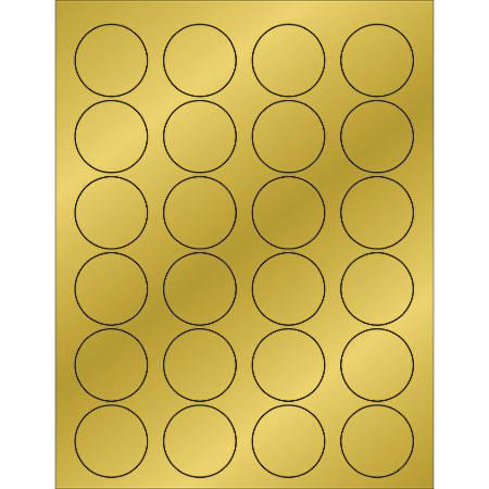 "Office Depot® Brand Foil Circle Laser Labels, LL216GD, 1 5/8"", Gold, Case Of 2,400"