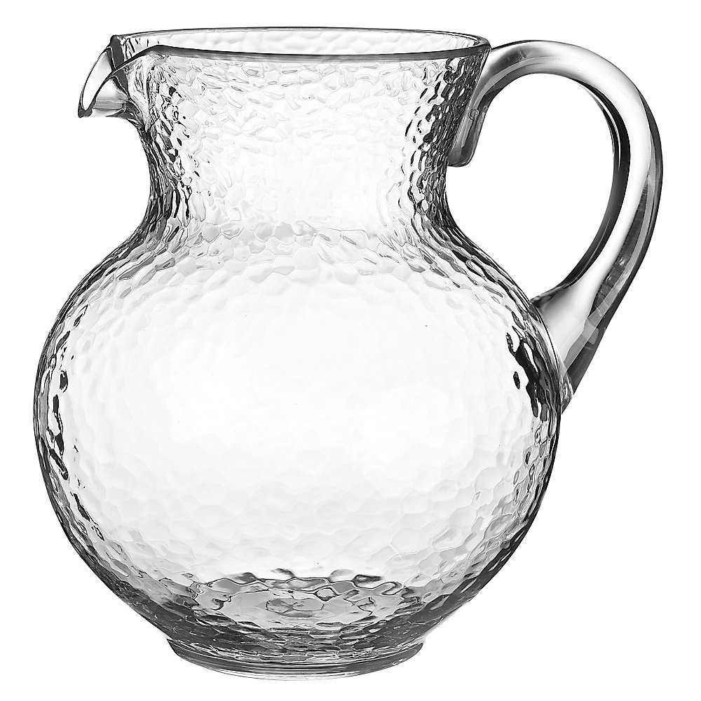 Amscan Hammered Plastic Margarita Pitchers, 90.5 Oz, Clear, Pack Of 2 Pitchers