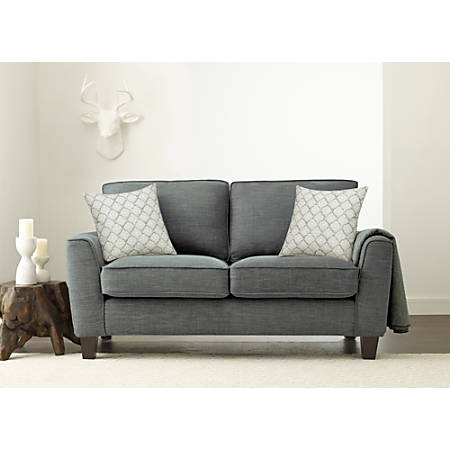 Serta Astoria Deep-Seating Loveseat, Dark Gray/Espresso