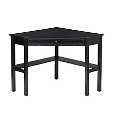 Southern Enterprises Corner Computer Desk Black