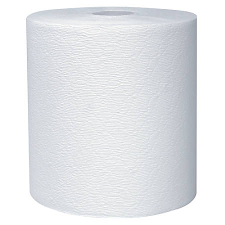 "Kleenex® Professional™ 50% Recycled 1-Ply Roll Towels, 8"" x 600', White, Case Of 6"