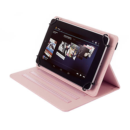 """Kyasi Seattle Classic Universal Folio Case For 9 - 10"""" Tablets, Blush Pink, KYSCUN910C6"""