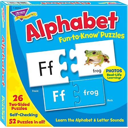 Trend® Fun-To-Know Puzzle, Alphabet, 52 Pieces