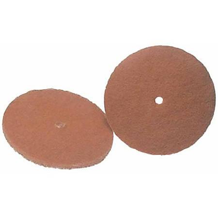 """Koblenz 6'' Cleaning Pads - Tan - 6"""" Diameter - 2/Pack x 6"""" Diameter - Nylon Fiber - Tan"""
