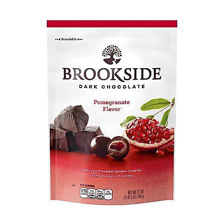 Brookside Chocolatier Pouch, 21 Oz, Dark Chocolate Pomegranate