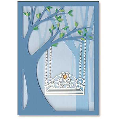 """Viabella Anniversary Greeting Card, Side By Side, 5"""" x 7"""", Multicolor"""