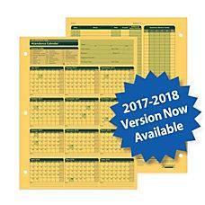 ComplyRight 2017 2018 Fiscal Attendance Calendar
