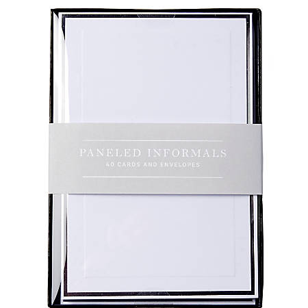 "Sincerely A Collection by C.R. Gibson® Paneled Informal Notes, 3 1/2"" x 4 7/8"", White, Pack Of 40"