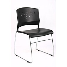 Boss Poly Stackable Chrome Chair BlackSilver