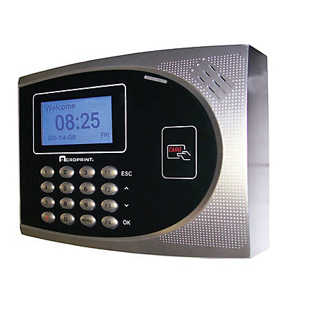 Acroprint TimeQPlus Proximity Time And Attendance System, 50 Employees