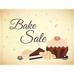 Customizable Yard Sign Bake Sale Brown