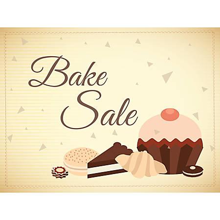 "Customizable Yard Sign, Bake Sale Brown, 18"" x 24"""