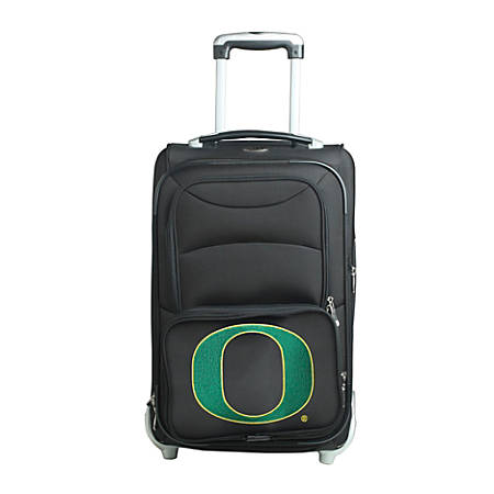"Denco Sports Luggage NCAA Expandable Rolling Carry-On, 20 1/2"" x 12 1/2"" x 8"", Oregon Ducks, Black"