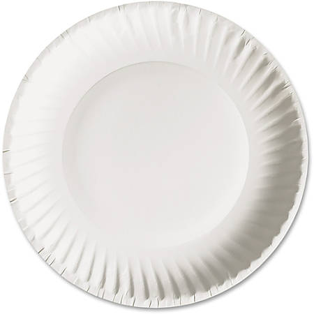 "AJM Green Label Paper Plates, 6"", White, Box Of 1,000 Plates"