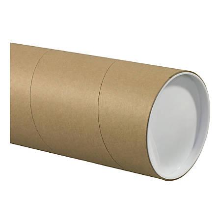 "Office Depot® Brand Jumbo Mailing Tubes, 5"" x 48"", Kraft, Case Of 15 Tubes"