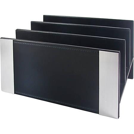 Artistic Architect Line Letter Sorter - Desktop - Black, Aluminum - 1Each