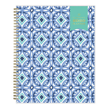 "Day Designer Weekly/Monthly Frosted Planner, 8-1/2"" x 11"", Tile, January To December 2020, 101411"
