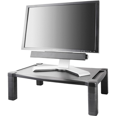 Kantek Extra Wide Adjule Monitor Laptop Stand 20inx13in Single 60 Lb Load Capacity 1 X Shelf Ves 20 Width Desktop Plastic Black Item 726532