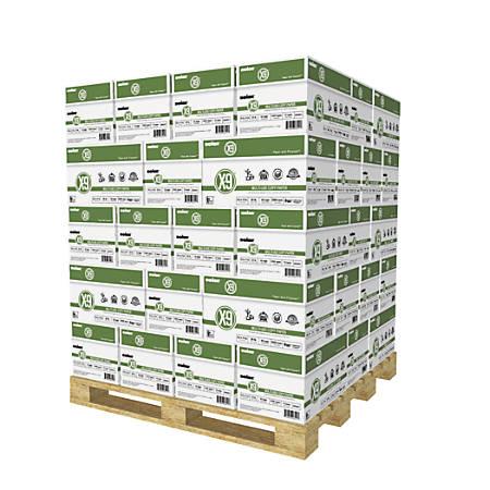 Boise® X-9 Multiuse Copy Paper, 3-Hole Punched, Letter Paper Size, 92 Brightness, 20 Lb, White, 500 Sheets Per Ream, 10 Reams Per Case, Pallet Of 40 Cases
