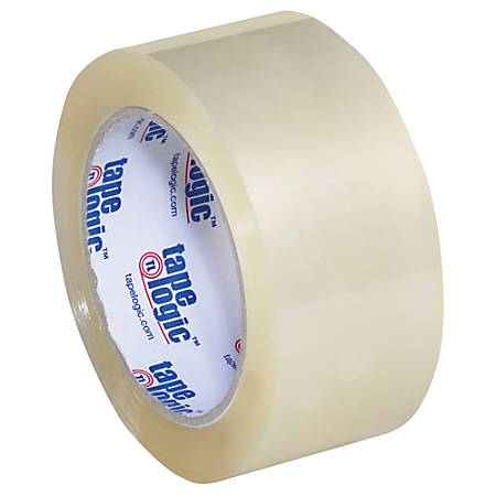 """Tape Logic® #350 Industrial Acrylic Tape, 3"""" Core, 2"""" x 55 Yd., Clear, Case Of 36"""