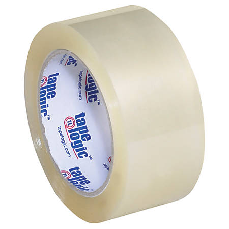 "Tape Logic® #350 Industrial Acrylic Tape, 3"" Core, 2"" x 55 Yd., Clear, Case Of 36"