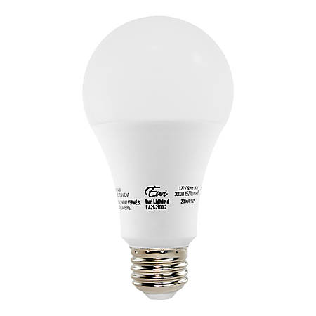 Euri A21 Non Dimmable Led Light Bulbs 1 521 Lumens 14 Watt 5000 Kelvin Daylight Pack Of 2 Bulbs Item 7266744