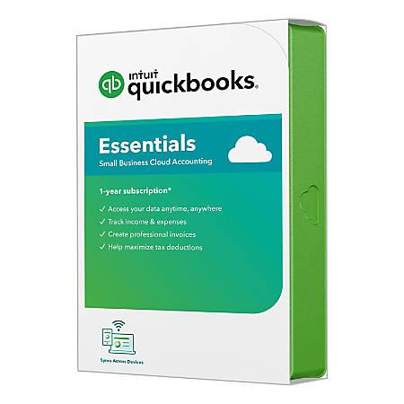 QuickBooks® Online Essentials 2020, 1 Year Subscription