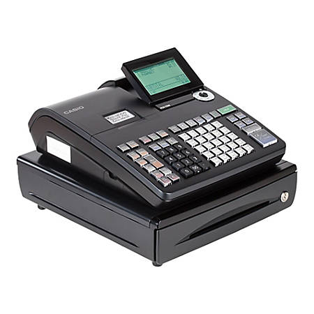 Casio® PCRT500 Cash Register With LCD Display, Black/Silver