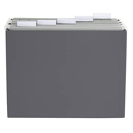 Office Depot® Brand Hanging File Folder Desk Organizer, Letter Size, Gray  Item # 7267380