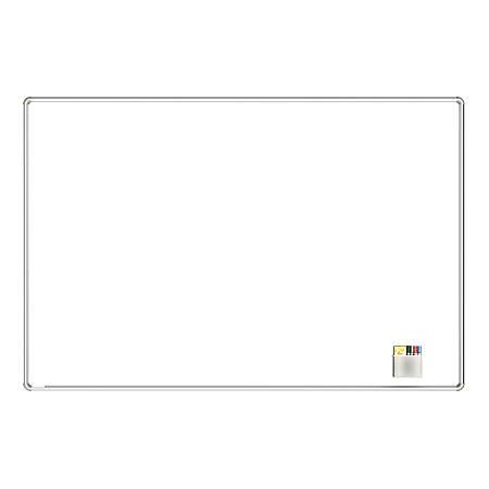 "Ghent Nexus Magnetic Dry-Erase Whiteboard, Porcelain, 48"" x 72"", White, Satin Aluminum Frame"