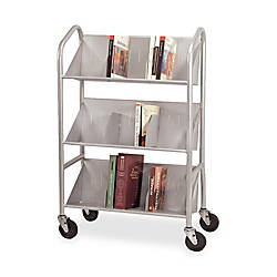 Buddy Slope Shelf Cart With Dividers
