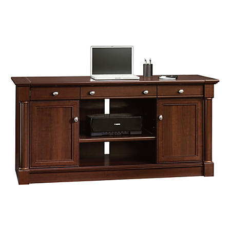 Sauder® Palladia Collection Credenza With Slide-Out Desktop, Select Cherry