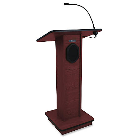 Amplivox Sound System Elite Lectern Rectangle Top 24 Table