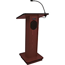 AmpliVox Wireless Elite Lectern Rectangle Top