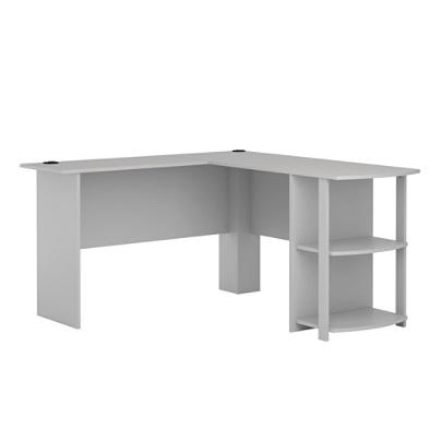 Pleasing Ameriwood Home Dakota L Shaped Desk With Bookshelves Dove Gray Item 7270441 Download Free Architecture Designs Licukmadebymaigaardcom