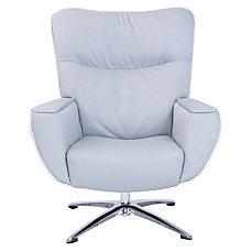 Lorell Argyle Lounge Fabric Swivel Chair