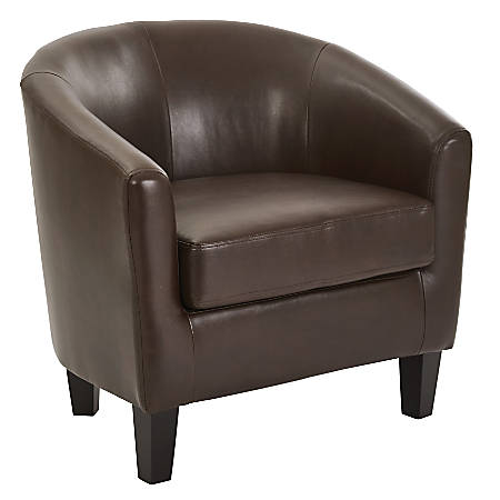 Ave Six Work Smart™ Ethan Tub Chair, Cocoa/Dark Espresso