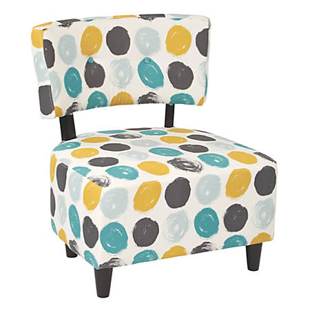 Ave Six Boulevard Chair, Brushed Dot Peacock/Dark Espresso