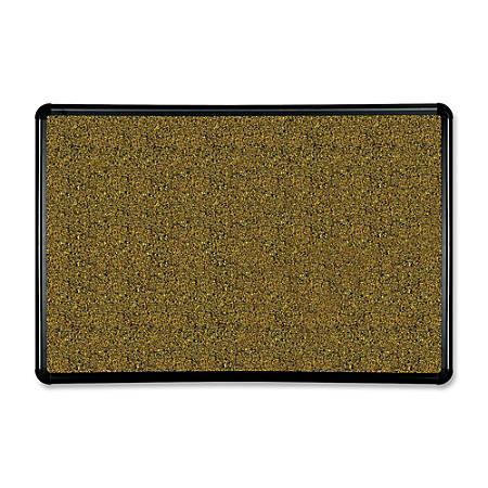 "Balt® 50% Recycled Splash Cork Board, 36"" x 24"", Black Frame"