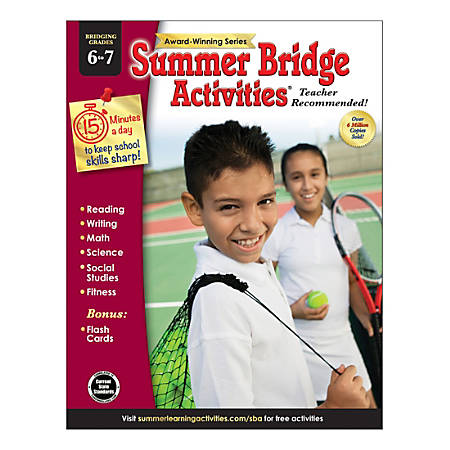 Carson-Dellosa Summer Bridge Activities® Workbooks, Grades 6-7, Pack Of 30 Workbooks