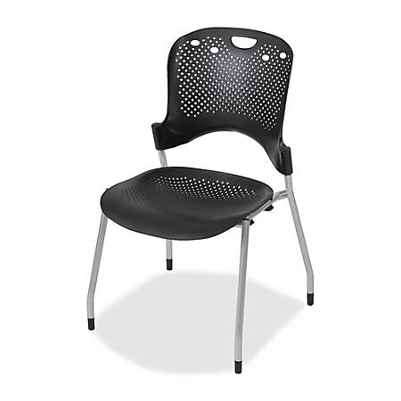 """Balt Circulation Armless Stacking Chairs, 34""""H x 25""""W x 23 3/4""""D, Black, Pack Of 4"""