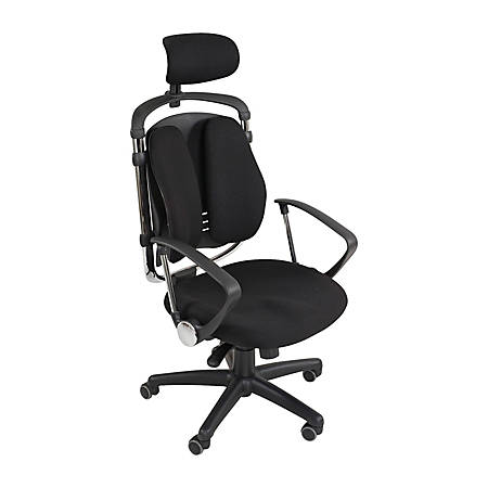 "Balt® Spine Align Executive Chair, 44""H x 26""W x 21""D, Black"