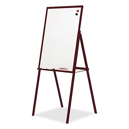 "Best-Rite® Wood Presentation Easel, 30"" x 31 1/2"" x 69 1/2"", Mahogany Frame"