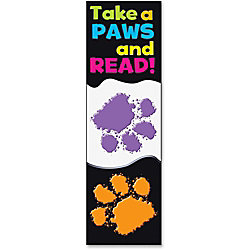 "Trend Take-a-Paws and Read Bookmark - Encouragement Theme/Subject - 36 (Rectangle) Shape - Take-a-Paws and Read Bookmark - 6.50"" Height x 2"" Width - Multicolor - 36 / Pack"