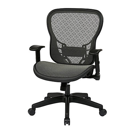 Office Star™ Space Seating® Fabric High-Back Chair, Black/Black