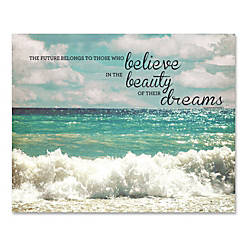 Advantus Believe Motivational Canvas Print 28
