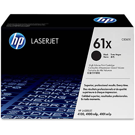 HP 61X, Black Original Toner Cartridge (C8061X)