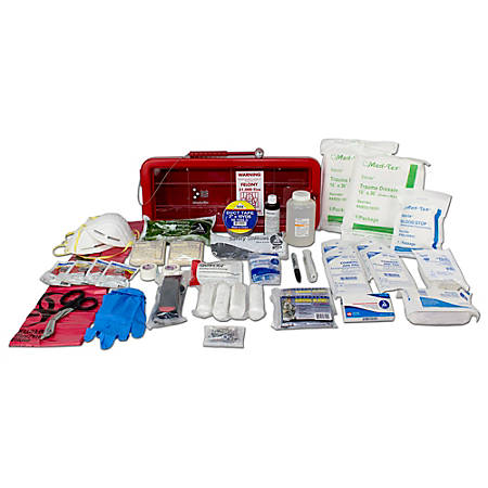 Ready America® Bleed Control Trauma Management Station, Red