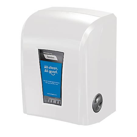 "Tandem® Electronic Hybrid HWT Dispenser, 17 5/16""H x 12 7/16""W x 9 7/8""D, White"