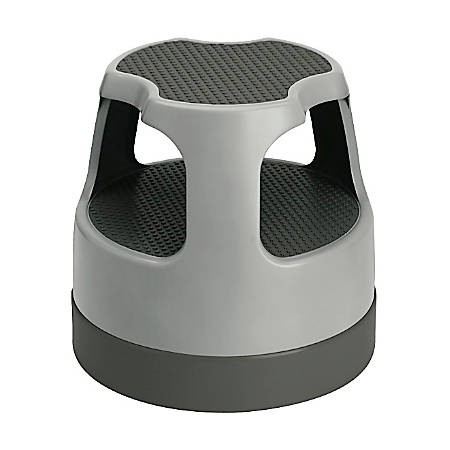 "Cramer Scooter Stool, 15""H x 15 7/16""W x 15 7/16""D, Gray"